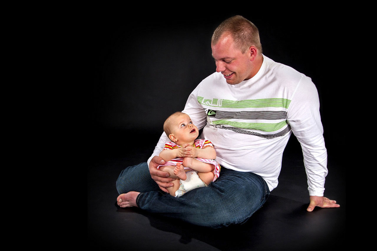 Portrét miminka s tatínkem