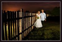 Svatební noční portrét