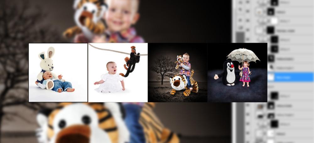 Jak fotografuji děti s jejich nejoblíbenějšími hračkami.