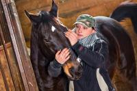 Portrét s koněm.