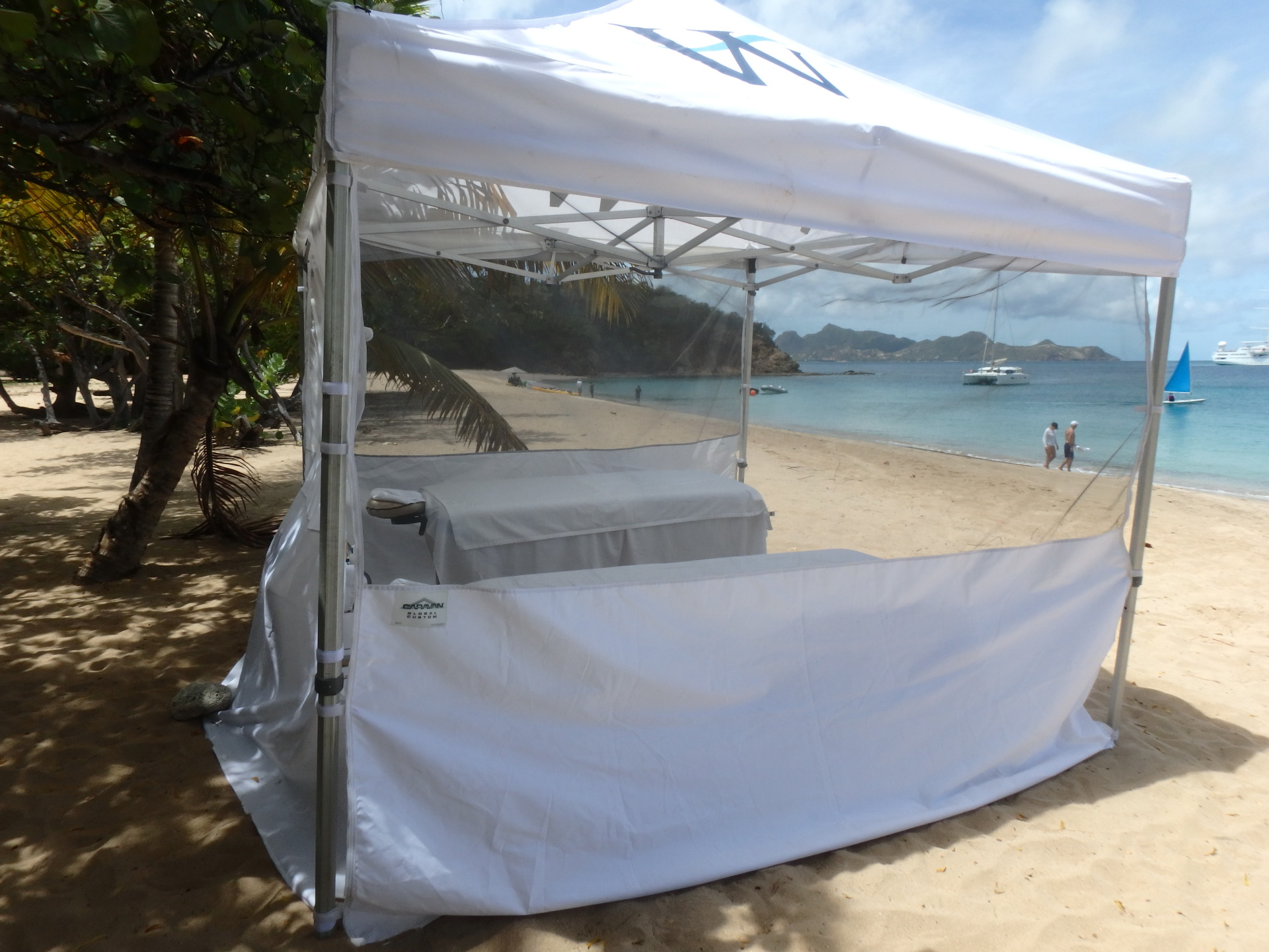 Be pampered with a massage on the beach!