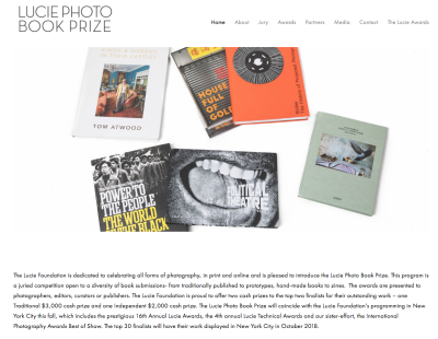 The Lucie Photo Book Prize