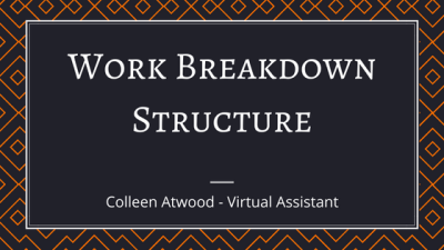 Work Breakdown Structure - The Principles Applied