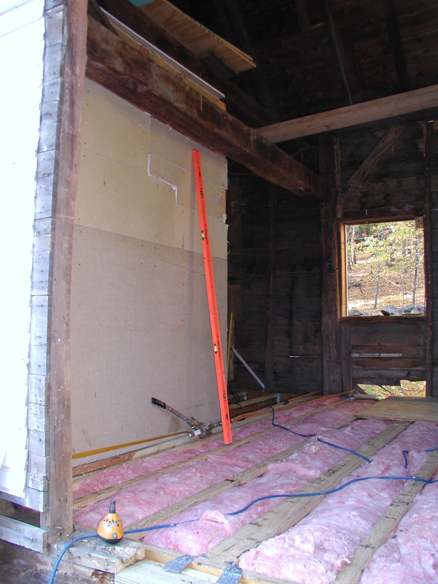 Making Use of Unused Space - Vermont barn to hot tub room with pellet stove