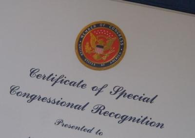Special Congressional Recognition