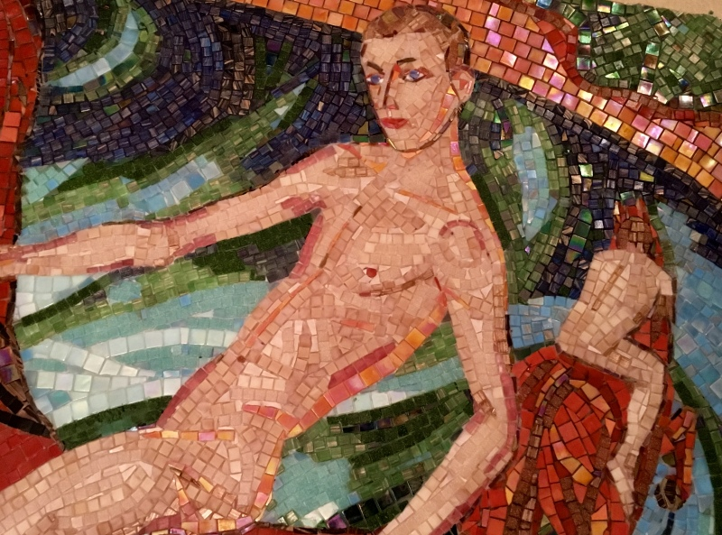 Fragment from 'Bathing of Red Horse' by Petrov-Vodkin