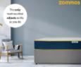 Finished firmness mattress measured grey background