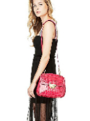 Angelic designer purses adapted woman red bag