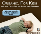 Confortable kids mattresses showed boy