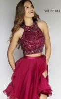 Beautiful glossy dress perceived woman