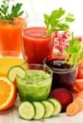 Different vegetable juice retrieved ingredients