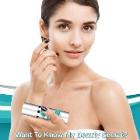 Simplistic skin care company inspected woman