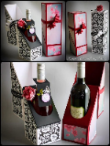 Humble champagne flutes decorated boxes gifts.