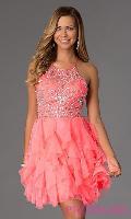Elegant pink dress searched fashion woman