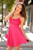 Clear-pink midi dress woman targeted style