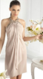 Enchanting modern clothing specified pink dress woman