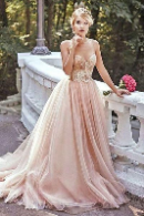 Friendly wedding dress conceptualized lady