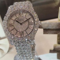Accurate two tone watch compared crystal style