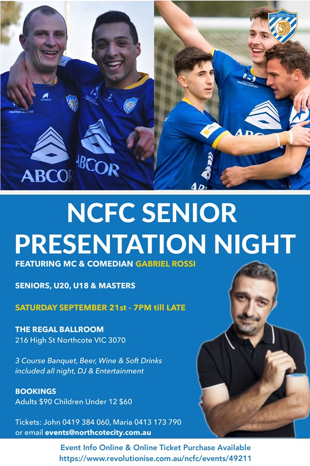 NCFC Senior Presentation Night