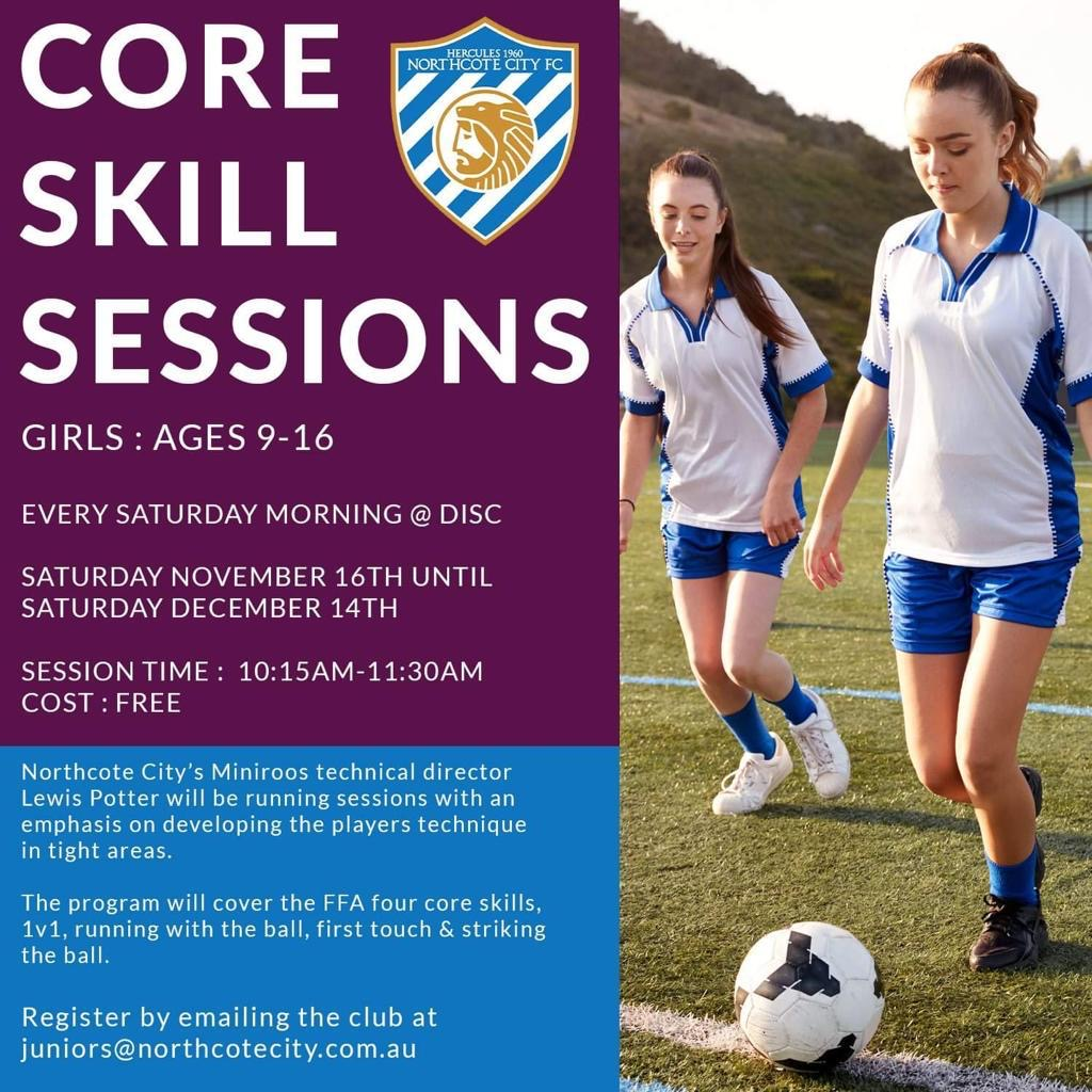 NCFC Female Football Core Skills Sessions