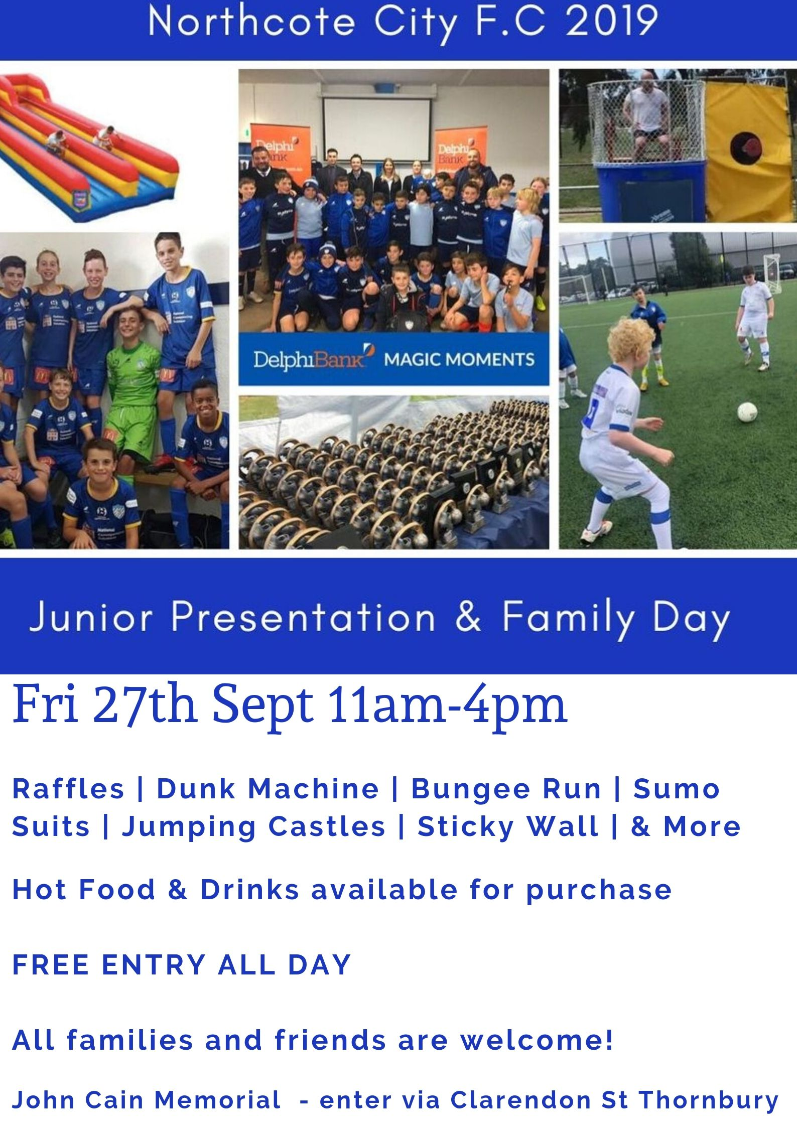 NCFC Junior Presentation Family Day