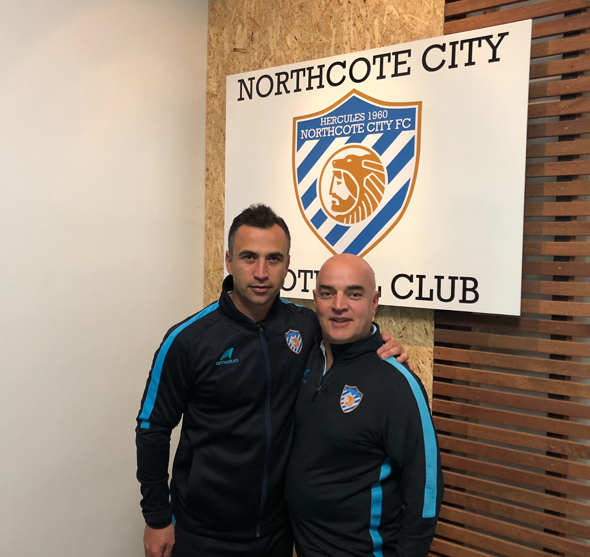 Head Coach Eric Vassiliadis With Club President Peter Papatheodorou