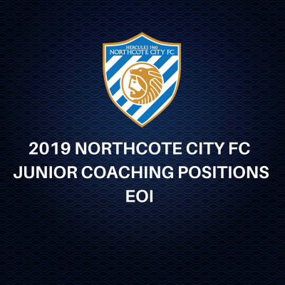 2019 NORTHCOTE CITY JUNIOR COACHING POSITIONS EOI