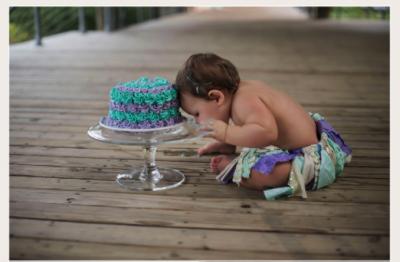 BATON ROUGE SMASH CAKE PHOTOGRAPHER