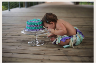BATON ROUGE SMASH CAKE PHOTOGRAPHER