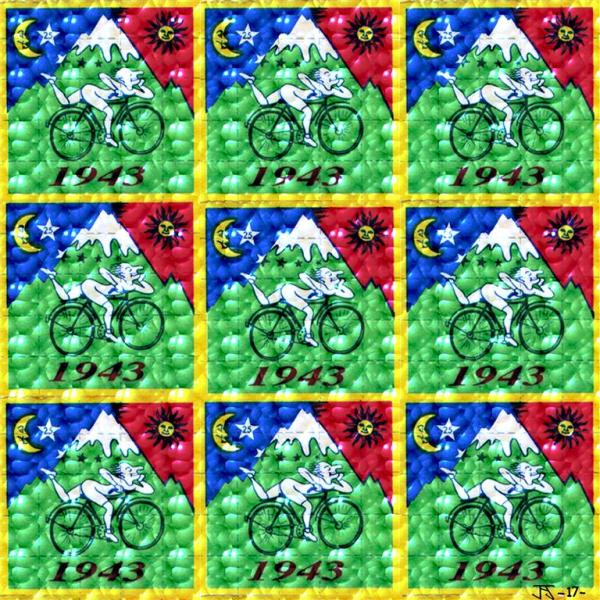 Bicycle Day - 3 X 3 - Shimmering light