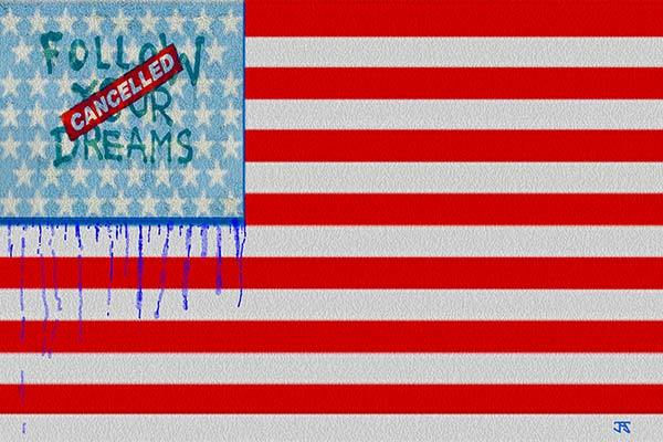 American Dreams Cancelled (After one of Banksy's street murals)