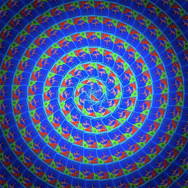 Bicycle Day - Blue vortex