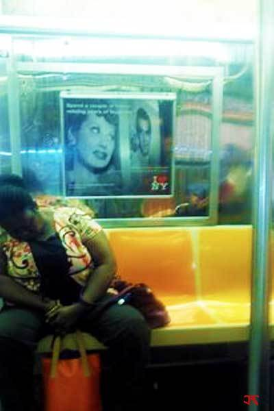 Woman on Subway
