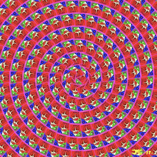 Bicycle Day Red-Spiral 2