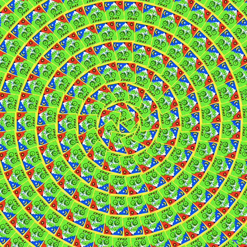 Bicycle Day - Green spiral