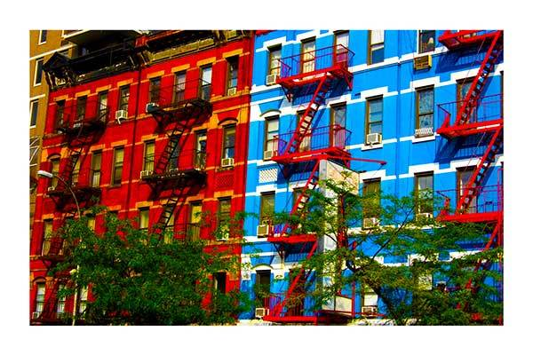 Red and blue (Greenwich Village, New York)