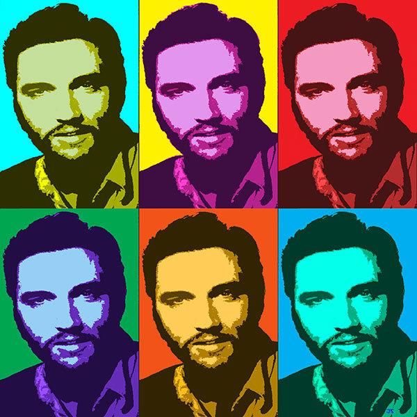 Elvis Presley (with beard) - 3x2