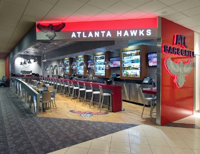 Atlanta Hawks Highlight Factory Bar and Grill - Atlanta Airport