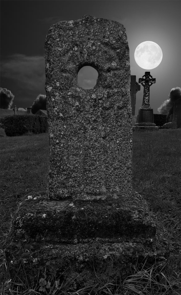 Grave stone, Swearing stone, Viking burial, Full moon, Spooky, Mystery, Late night,