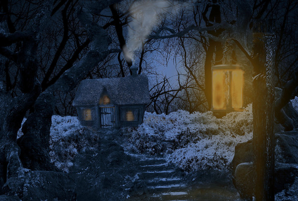 Red Riding Hood's grandmothers cottage.