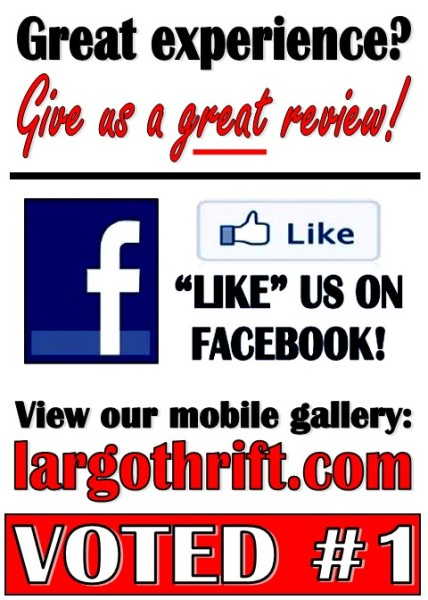 """Like"" The Thrift Shop of Largo on Facebook"