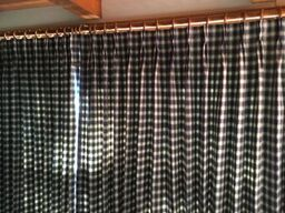 Plaid drapes