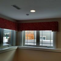 shaped upholstered cornice