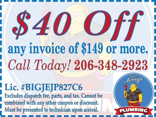 Coupons for Plumbing Lakewood WA