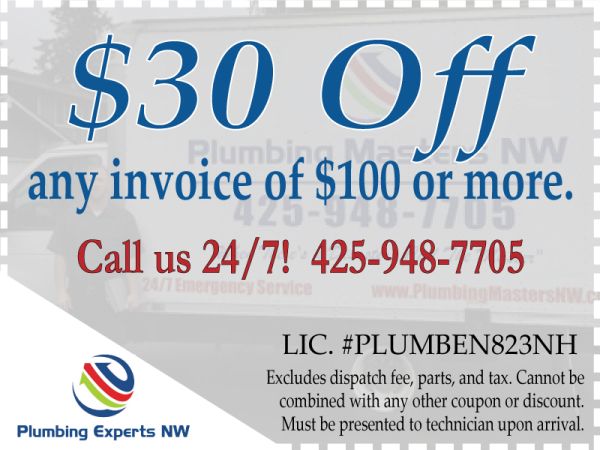 Plumbing Coupon Everett