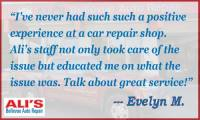 Ali's Bellevue Auto Repair List of Services