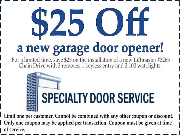 Garage Door Opener Coupon Discount