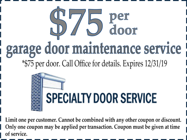 Garage Door Mainenance and Repair Special Offer