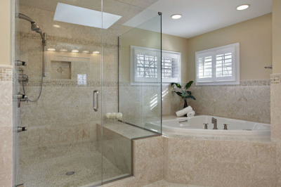 Removing soffits in the bathroom remodel is a new trend found in Sarasota Florida.