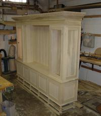 Before picture of custom made TV cabinet.